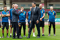 The President of the Government of Spain Pedro Sanchez (r) in presence of RFEF's President Luis Rubiales visits the national soccer team training session. June 5,2018.(ALTERPHOTOS/Acero) /NortePhoto.com NORTEPHOTOMEXICO