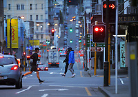 Vivian St at 8am during Level 4 lockdown for the COVID-19 pandemic in Wellington, New Zealand on Monday, 23 August 2021.