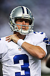 Dallas Cowboys quarterback Brandon Weeden (3) in action during the pre-season game between the Baltimore Ravens and the Dallas Cowboys at the AT & T stadium in Arlington, Texas. Baltimore defeats Dallas  37-30.