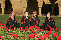 1 October 2007: Poppy Carlig, Sara Lowe, Melissa Knight, and Courtenay Stewart during picture day in Stanford, CA.