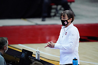 Las Vegas, NV - December 06: Tara Vanderveer prior to a game between Washington and Stanford University at Cox Pavillion on December 06, 2020 in Las Vegas, Nevada.