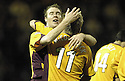 01/12/2007      Copyright Pic: James Stewart.File Name : sct_jspa09_motherwell_v_gretna.DAVID CLARKSON CELEBRATES AFTER HE SCORES MOTHERWELL'S THIRD.James Stewart Photo Agency 19 Carronlea Drive, Falkirk. FK2 8DN      Vat Reg No. 607 6932 25.Office     : +44 (0)1324 570906     .Mobile   : +44 (0)7721 416997.Fax         : +44 (0)1324 570906.E-mail  :  jim@jspa.co.uk.If you require further information then contact Jim Stewart on any of the numbers above.........