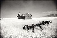 Abandoned barn and farm equipment<br />