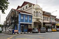 Ipoh, Malaysia.  Han Chin Pet Soo Tin Mining Museum (Beige Building).