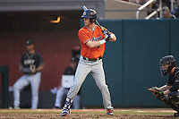 Steven Williams (41) of the Auburn Tigers at bat against the Army Black Knights at Doak Field at Dail Park on June 2, 2018 in Raleigh, North Carolina. The Tigers defeated the Black Knights 12-1. (Brian Westerholt/Four Seam Images)