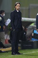 Filippo Inzaghi coach of Benevento Calcio looks on<br /> during the Serie A football match between Benevento Calcio and Spezia Calcio at stadio Ciro Vigorito in Benevento (Italy), November 7th, 2020. <br /> Photo Cesare Purini / Insidefoto