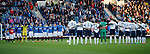 Ibrox stadium falls silent to remember the fans who never returned home from Hillsborough 25 years ago