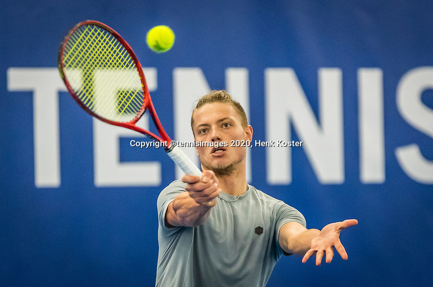 Amstelveen, Netherlands, 17  December, 2020, National Tennis Center, NTC, NK Indoor, National  Indoor Tennis Championships,   :  Tim van Rijthoven (NED) <br /> Photo: Henk Koster/tennisimages.com