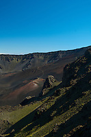 Haleakala Crater late in the day, Haleakala National Park, Maui.