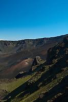 Haleakala Crater late in the day, Haleakala National Park, Maui.