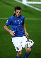 Football: Uefa Nations League Group A match Italy vs Netherlands at Gewiss stadium in Bergamo, on October 14, 2020.<br /> Italy's Alessandro Florenzi in action during the Uefa Nations League match between Italy and Netherlands at Gewiss  stadium in Bergamo, on October 14, 2020. <br /> UPDATE IMAGES PRESS/Isabella Bonotto