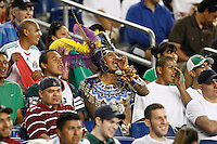 A Pachuca CF fan. The New England Revolution defeated Pachuca CF 1-0 during a Group B match of the 2008 North American SuperLiga at Gillette Stadium in Foxborough, Massachusetts, on July 16, 2008.