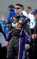 Apr 20, 2006; Phoenix, AZ, USA; Nascar Nextel Cup driver Denny Hamlin of the (11) Fedex Chevrolet Monte Carlo during qualifying for the Subway Fresh 500 at Phoenix International Raceway. Mandatory Credit: Mark J. Rebilas..