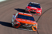 Monster Energy NASCAR Cup Series<br /> Ford EcoBoost 400<br /> Homestead-Miami Speedway, Homestead, FL USA<br /> Sunday 19 November 2017<br /> Daniel Suarez, Joe Gibbs Racing, ARRIS Toyota Camry and Dale Earnhardt Jr, Hendrick Motorsports, Axalta Chevrolet SS<br /> World Copyright: Russell LaBounty<br /> LAT Images