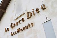 Winery building. Chateau la Grace Dieu les Menuts, Saint Emilion, Bordeaux, France