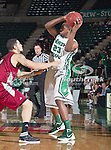 North Texas Mean Green guard Jordan Williams (23) in action during the game between the Troy Trojans and the University of North Texas Mean Green at the North Texas Coliseum,the Super Pit, in Denton, Texas. UNT defeats Troy 87 to 65.....