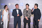 Singer Jay Chou, Ken Chu and his wife Audrey, and Wang Zhongjun on the Red Carpet event at the World Celebrity Pro-Am 2016 Mission Hills China Golf Tournament on 20 October 2016, in Haikou, China. Photo by Marcio Machado / Power Sport Images