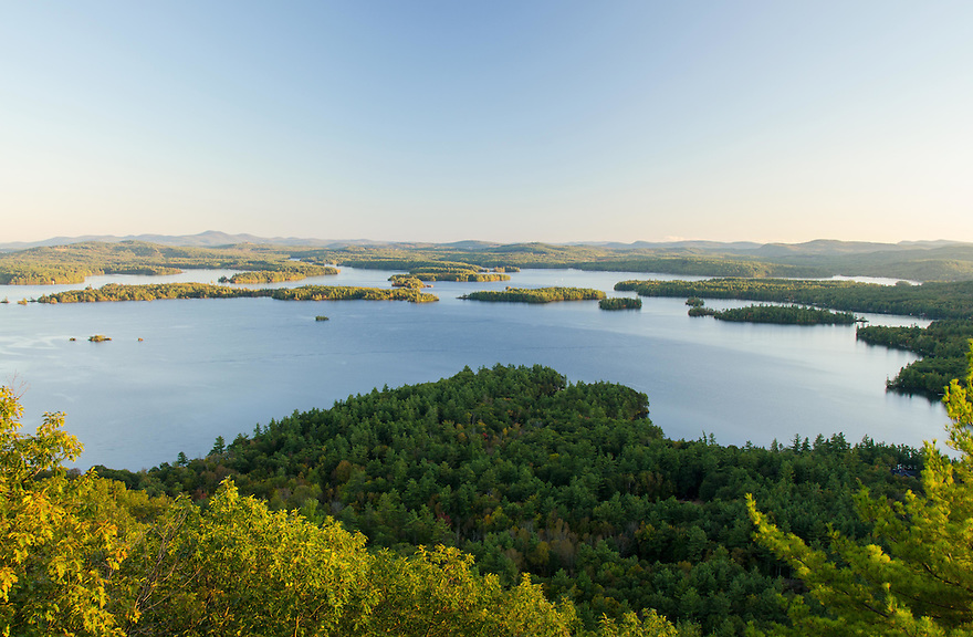 The classic view over Squam Lake from atop West Rattlesnake Mtn.