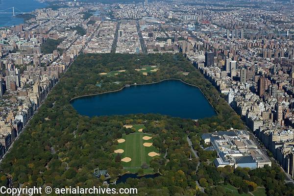 aerial photograph of Central Park, Manhattan, New York City