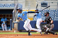 FCL Rays Willy Vasquez (96) bats during a game against the FCL Pirates Black on August 3, 2021 at Charlotte Sports Park in Port Charlotte, Florida.  (Mike Janes/Four Seam Images)