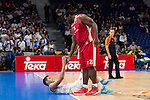 Real Madrid and Crvena Zvezda Telekom during Euroligue Basketball at Barclaycard Center in Madrid, October 22, 2015<br /> Felipe Reyes and Schortsanitis.<br /> (ALTERPHOTOS/BorjaB.Hojas)