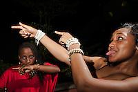 Kendi, 19, student and Chep, 19, student, dancing.