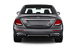 Straight rear view of 2020 Mercedes Benz E-Class AMG-E53 4 Door Sedan Rear View  stock images