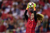Atlanta, GA - Sunday Sept. 18, 2016: Alyssa Naeher prior to a international friendly match between United States (USA) and Netherlands (NED) at Georgia Dome.