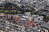 aerial photograph of San Francisco General Hospital, San Francisco, California