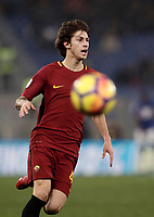 Calcio, Serie A: AS Roma - Sampdoria, Roma, stadio Olimpico, 28 gennaio 2018. <br /> Roma's Mirko Antonucci in action during the Italian Serie A football match between AS Roma and Sampdoria at Rome's Olympic stadium, January 28, 2018.<br /> UPDATE IMAGES PRESS/Isabella Bonotto
