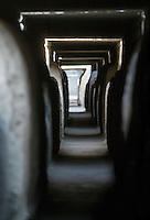Europe/France/Languedoc-Roussillon/30/Gard : Le pont du Gard (patrimoine Mondial de l'UNESCO) A l''intérieur du canal vouté de l'aqueduc  qui transportait l'eau.