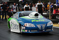 Mar. 9, 2012; Gainesville, FL, USA; NHRA pro stock driver Rodger Brogdon during qualifying for the Gatornationals at Auto Plus Raceway at Gainesville. Mandatory Credit: Mark J. Rebilas-