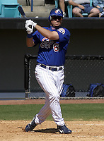 April 1, 2004:  First baseman Brad Wilkerson of the Montreal Expos (Washington Nationals) organization during Spring Training at Space Coast Stadium in Melbourne, FL.  Photo copyright Mike Janes/Four Seam Images