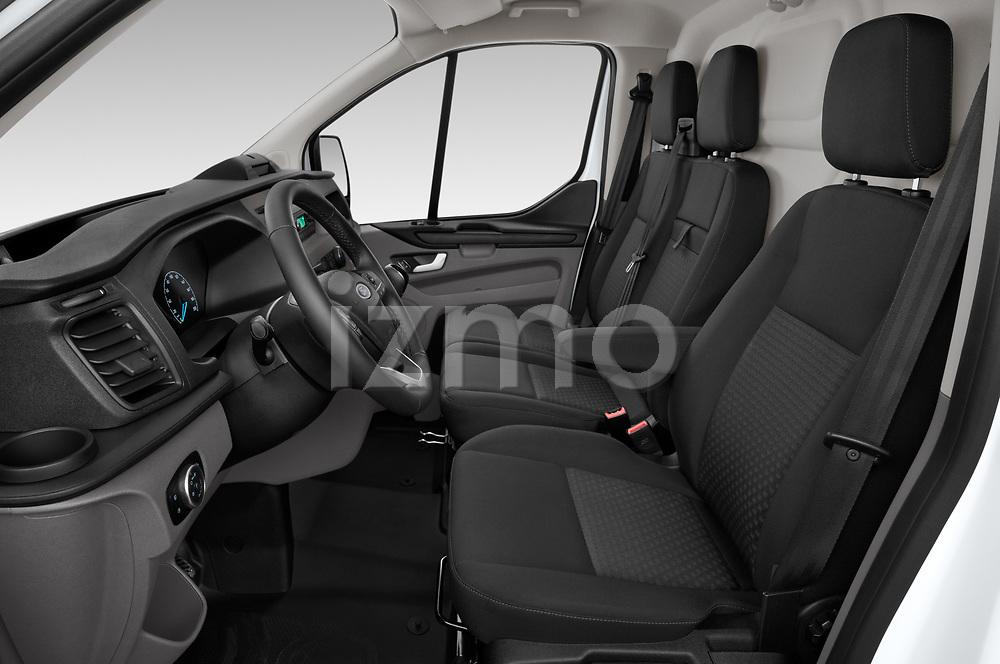 Front seat view of 2021 Ford Transit-Custom Trend 4 Door Cargo Van Front Seat  car photos