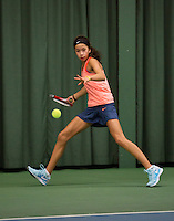 Rotterdam, The Netherlands, 15.03.2014. NOJK 14 and 18 years ,National Indoor Juniors Championships of 2014, Daevenia Achong (NED)<br /> Photo:Tennisimages/Henk Koster