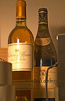 In a corner of the cellar: Chateau d'Yquem 1980 and Clos des Lambrays Bourgogne Grand Cru 1918 - Chateau Haut Bergeron, Sauternes, Bordeaux