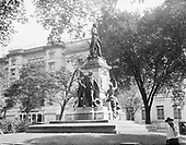 0613-B037. Lafayette statue, Lafayette Park, 16th & Pennsylvania NW. Washington, DC, 1922