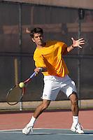 SAN ANTONIO, TX - MARCH 5, 2007: The East Tennessee State University Buccaneers vs. The University of Texas at San Antonio Roadrunners Men's Tennis at the UTSA Tennis Center. (Photo by Jeff Huehn)