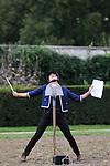 IDÉAL....Conception et interpretation : Claudia Triozzi..Avec : Anne-Laure Chalumeau, et son cheval Clyde..Son et voix : Christian Sotomayor et Claudia Triozzi..Remerciements à Rosine Lagier...Cadre : Plastique Danse Flore..Lieu: Potager du Roi..Ville : Versailles..le 17/09/2011..© Laurent Paillier / photosdedanse.com..All rights reserved