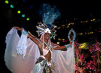 Life in Brazil world famous Carnival with dancer in Rio de Janeiro holiday.