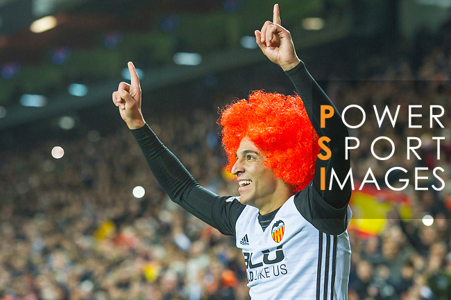 Rodrigo Moreno of Valencia CF celebrates during the La Liga 2017-18 match between Valencia CF and FC Barcelona at Estadio de Mestalla on November 26 2017 in Valencia, Spain. Photo by Maria Jose Segovia Carmona / Power Sport Images