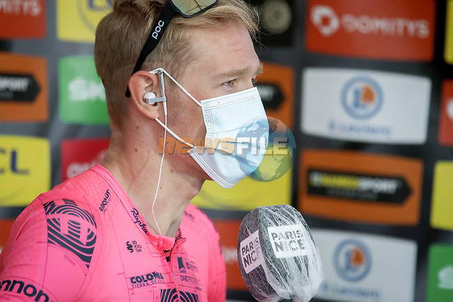 Magnus Cort Nielsen (DEN) EF Education-Nippo wins Stage 8 of Paris-Nice 2021, running 92.7km from Le Plan-du-Var to Levens, France. 14th March 2021.<br /> Picture: ASO/Fabien Boukla   Cyclefile<br /> <br /> All photos usage must carry mandatory copyright credit (© Cyclefile   ASO/Fabien Boukla)