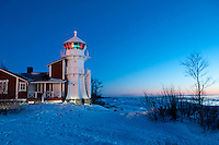 Kallo Lighthouse in Winter Twilight -near Pori, Finland