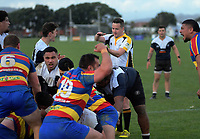 Tawa celebrates victory at the final whistle of the Wellington premier club rugby Swindale Shield match between Petone and Tawa at Petone Rec in Lower Hutt, New Zealand on Saturday, 29 August 2020. Photo: Dave Lintott / lintottphoto.co.nz