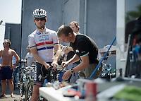 mechanic Mark Cavendish (GBR)<br /> <br /> Tour de France 2013<br /> restday 2