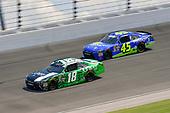 #18: Daniel Suarez, Joe Gibbs Racing, Toyota Camry Juniper Networks, #45: Josh Bilicki, J.P. Motorsports, Toyota Camry Prevagen