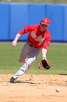 Ohio State Buckeyes Tyler Engle #1 during a game vs. the Illinois State Redbirds at Chain of Lakes Park in Winter Haven, Florida;  March 11, 2011.  Illinois defeated Ohio State 12-1.  Photo By Mike Janes/Four Seam Images