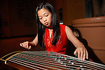 Martin Lo, age 10, plays the Gu Zheng at the Asia Society Gala at the InterContinental Houston Hotel Thursday Feb. 26, 2009.(Dave Rossman/For the Chronicle)