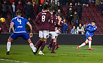 29.02.2020 Hearts v Rangers: Ianis Hagi rattles in a shot