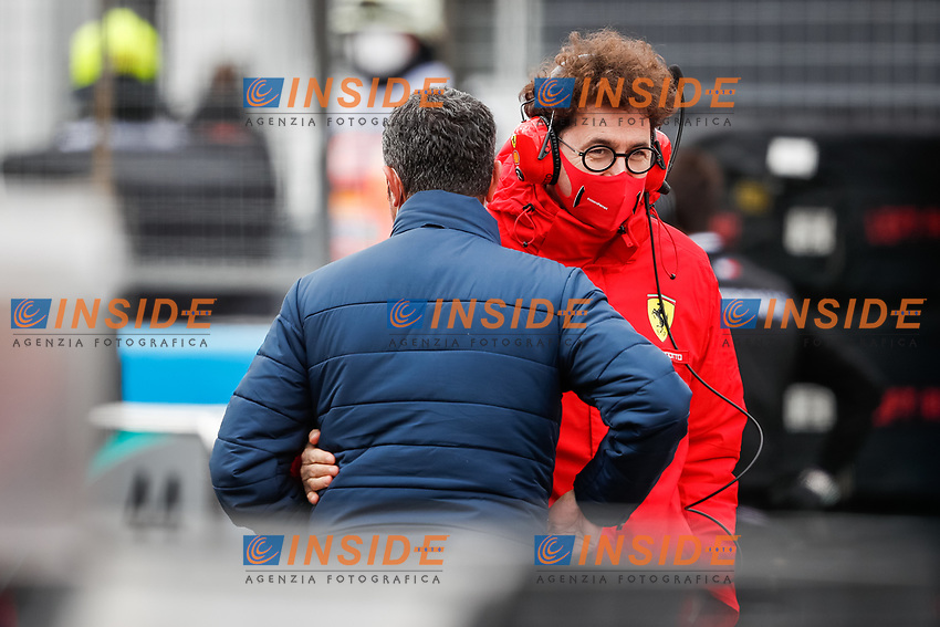 MASI Michael, FIA Race Director, BINOTTO Mattia (ita), Team Principal & Technical Director of the Scuderia Ferrari, portrait during the Formula 1 Aramco Grosser Preis Der Eifel 2020, Eifel Grand Prix, from October 9 to 11, 2020 on the Nürburgring, in Nürburg, Germany <br /> Nurburg Nurburging 11-10-2020 Formula 1 GP Eifel Germania <br /> Foto Dppi/Panoramic/Insidefoto <br /> ITALY ONLY